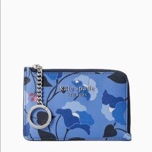 ♠️Kate Spade Staci Nouveau Bloom l-zip Card Holder